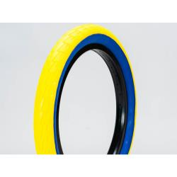 Lagos Crawler Pair Yellow/Blue 20 inch BMX Tyre