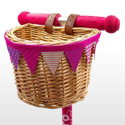 Micro ECO Wicker Basket: Pink