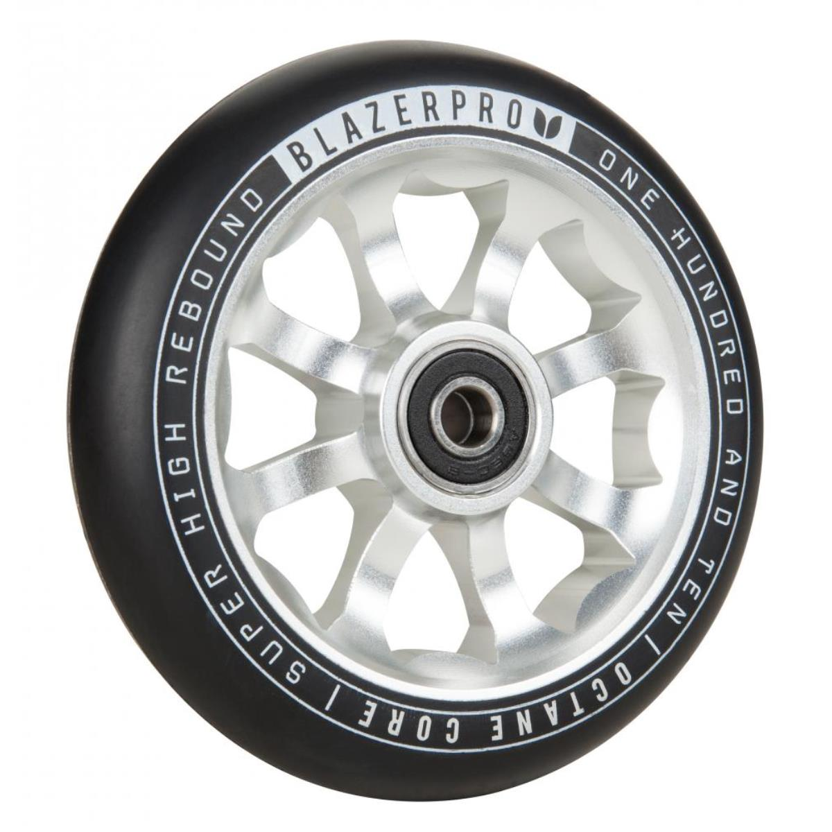 Blazer Pro Scooter Wheel Octane 110mm With Abec 9 Silver